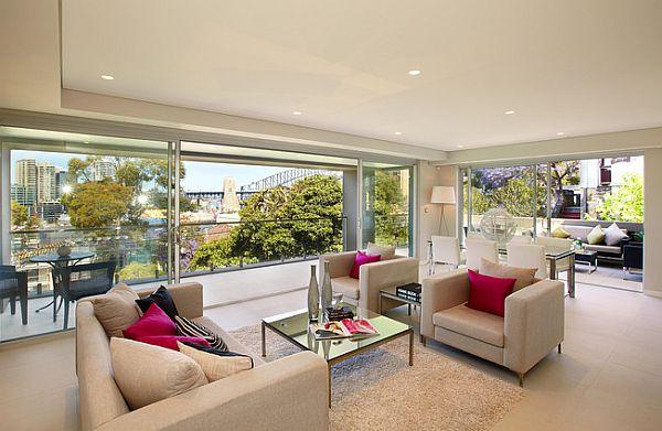 Sydney Penthouse - luxurious living room design
