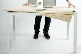 Tambour Table Desk - Hiding Clutter - Michael Bambino 6