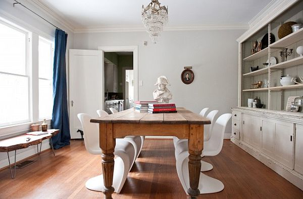 Vintage and modern dining room How to Care for Vintage Wood Furniture