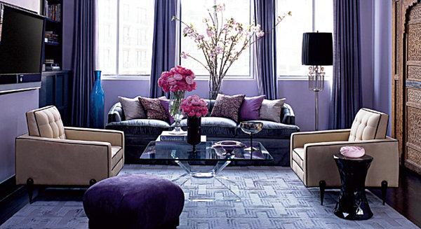 a lavender room