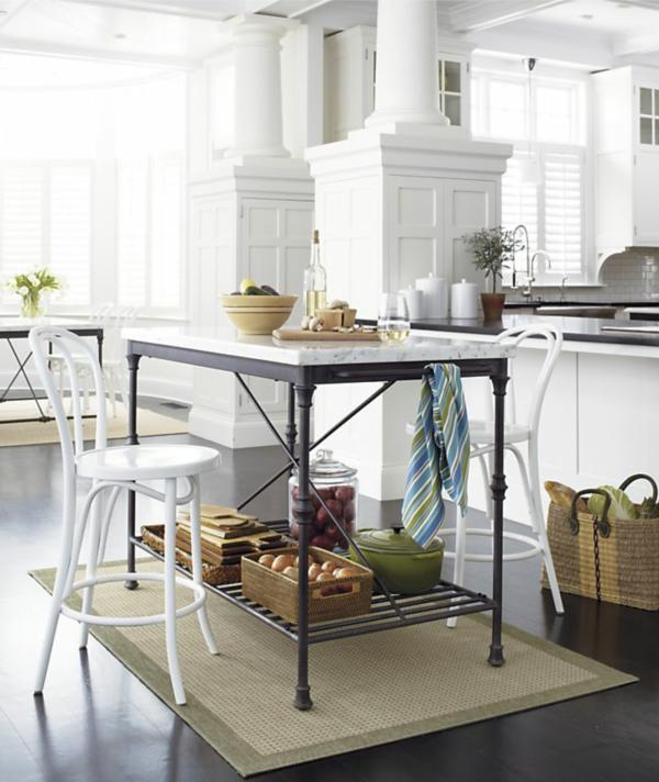 French Bistro Kitchen Islands