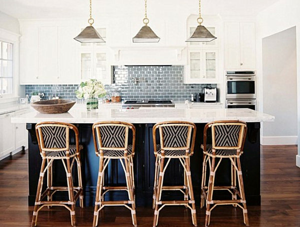 black and white bistro kitchen with bistro chairs Bistro Kitchen Decor: How to Design a Bistro Kitchen