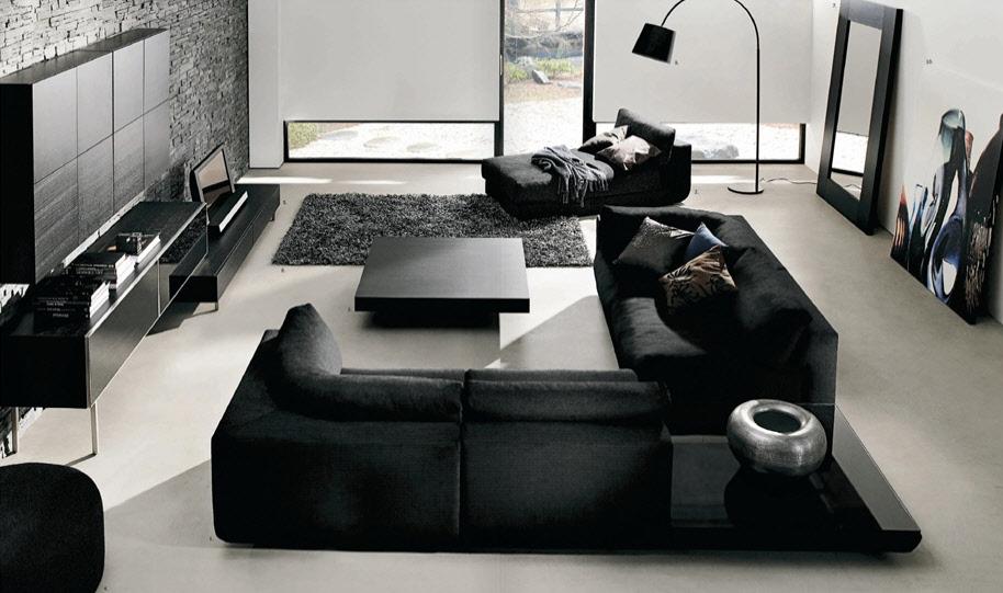 black furniture - minimalist design