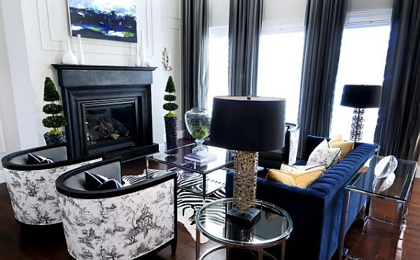 black inspired living room interior design Black is the New White: Sophisticating Your Room Without Spooking