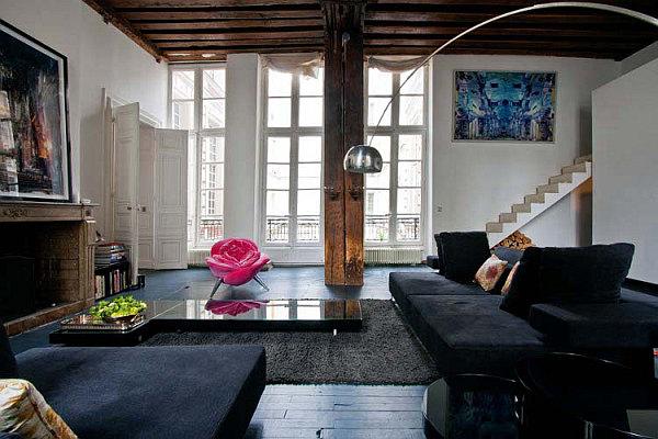 captivating jl deniot paris living room apartm | Parisian Apartment Mixes German Minimalism with French ...