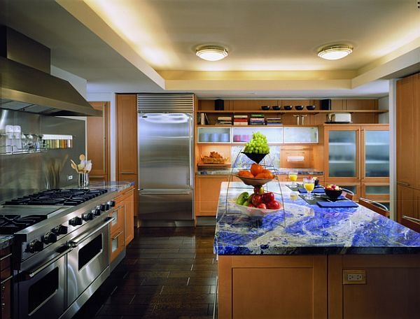 blue mineral sodalite kitchen countertop Top Kitchen Countertop Materials