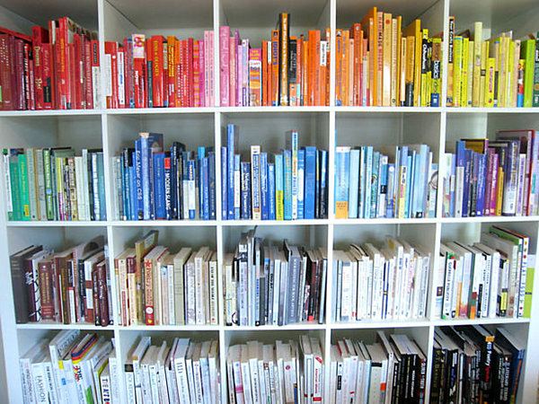 book books bookshelf colours - photo #13