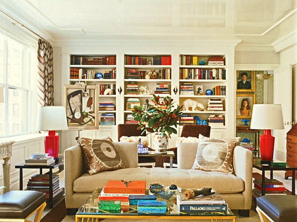 view in gallery - How To Decorate Bookshelves
