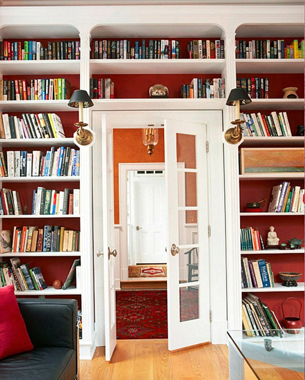 Wall Of Bookshelves 20 bookshelf decorating ideas