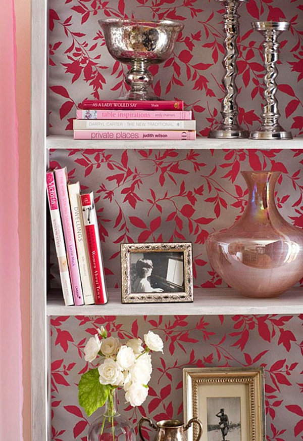 idea 15 paint the back wall of your bookshelf