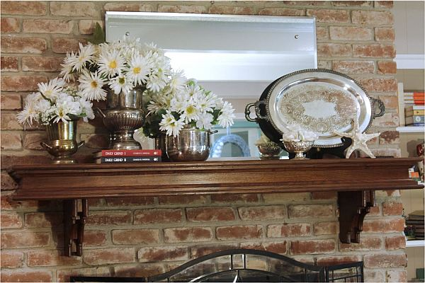 brick wall mantle decoration and design Decore com paredes de tijolos expostos