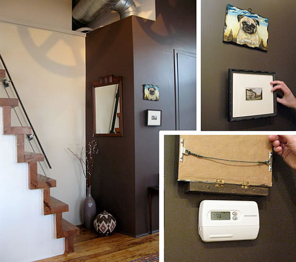 canvas art hiding wall thermostat Canvas Art Coverings in Just Three Steps