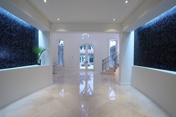 charming hallway design with marble flooring How to Clean Marble Flooring