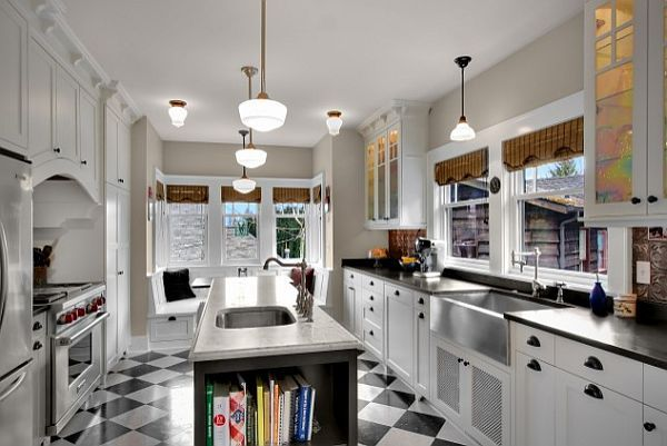 Black And White Kitchen Floor black and white kitchen floor - aralsa