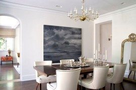 chic traditional dining table & chairs