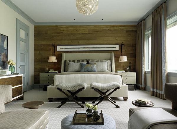 chic wooden wall in bedroom Floored: When Wood Meets Wall and How to Install It
