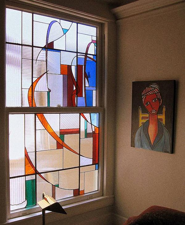 Art glass windows for an elegant touch for Window design art