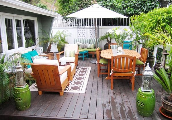 colorful decked terrace