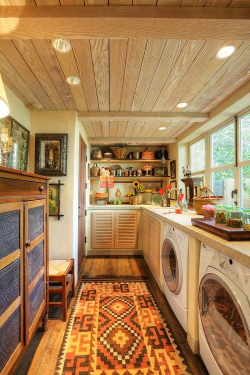 colorful laundry room design