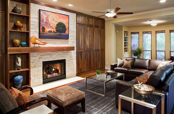 contemporary-fireplace-mantle-decoration-austin-tx