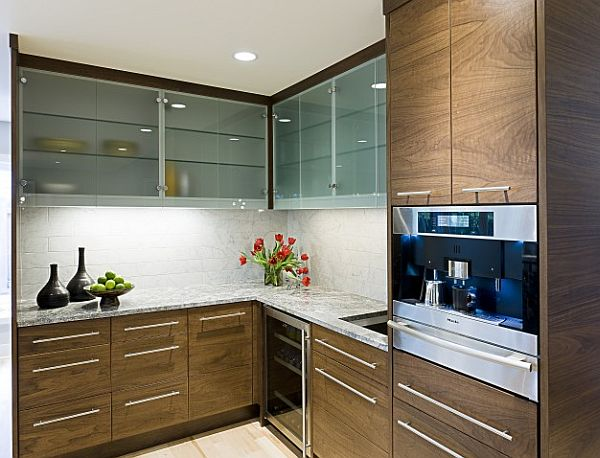 View In Gallery Contemporary Kitchen Cabinetry With Wooden Furnishings Updating Your Kitchen Cabinets Replace Or Reface