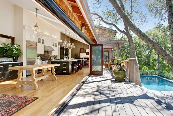 contemporary patio design with wood deck How to Update Your Deck for Summer