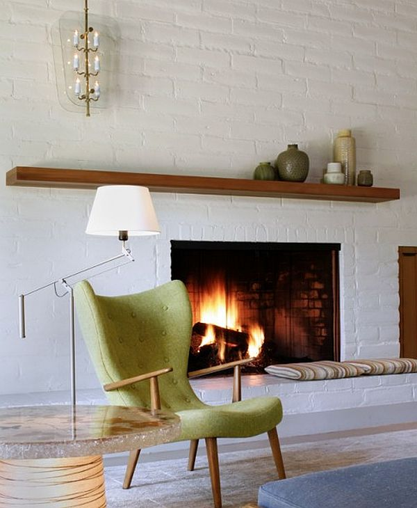 Mantling the mantle piece - Living room contemporary fireplace design ...