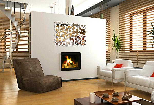 decorative-leaf-wall-mirror
