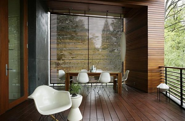 dining table outdoor deck terrace