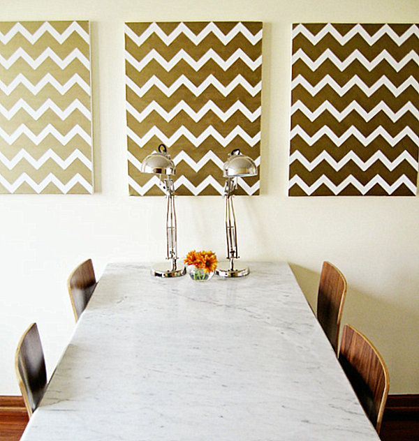 Marvelous View in gallery DIY Chevron wall art