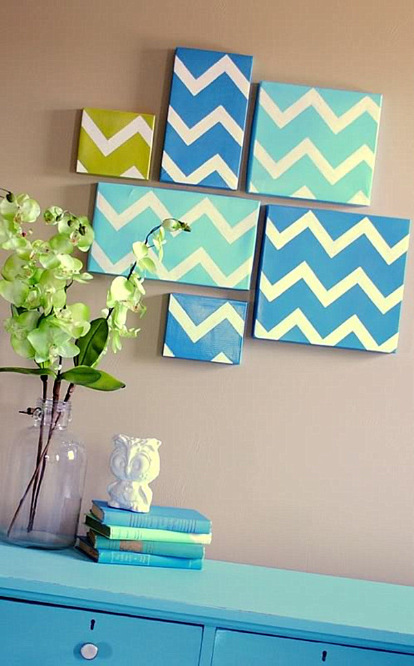 diy modern chevron art