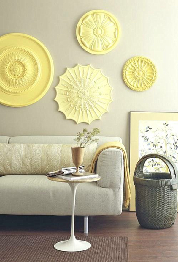 Yellow Wall Decor at Home and Interior Design Ideas