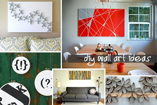 25 diy wall art ideas that spell creativity in a whole new way. Black Bedroom Furniture Sets. Home Design Ideas