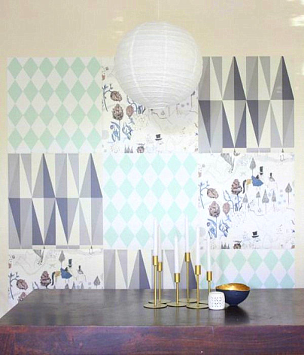 25 diy wall art ideas that spell creativity in a whole new way - Ideas for covering wallpaper ...