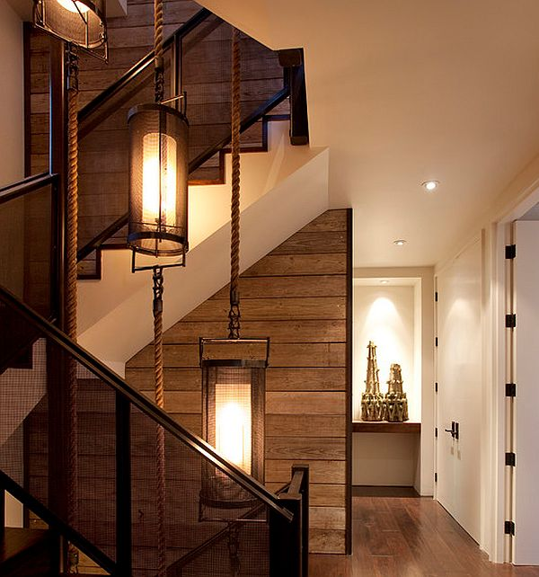 Lighting Basement Washroom Stairs: DIY Wood Walls: Inspiration & How To Install Them