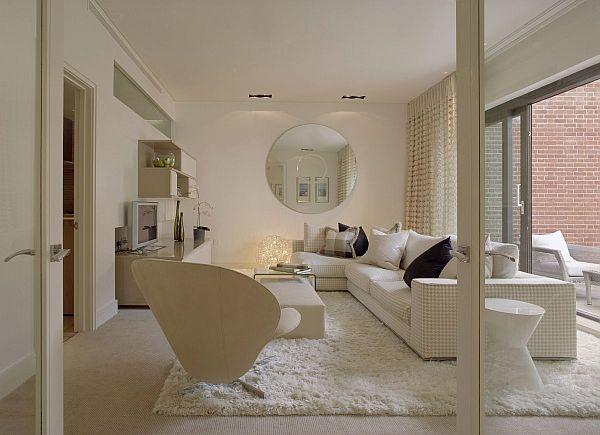elegant living room design with luxury amenities