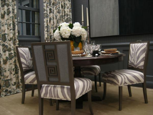 Floral Drapes In A Modern