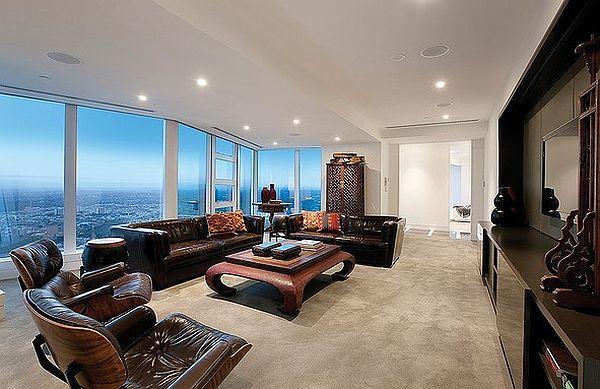 full-floor luxury penthouse on the 84th floor of Eureka Tower