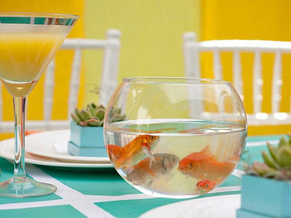 Goldfish bowl centrepiece ideas proteckmachinery