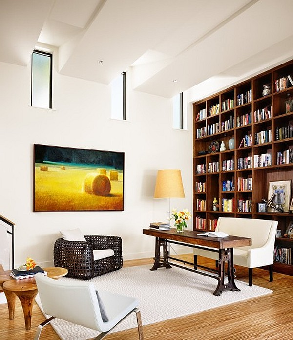 Contemporary Home Office Design Ideas: Creative Ideas For High Ceilings