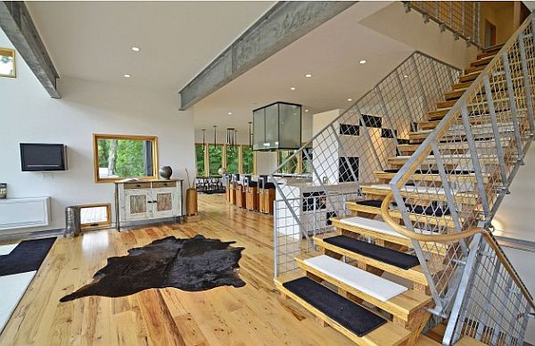 industrial-mineappolis-loft-with-fancy-wooden-beam-staircase
