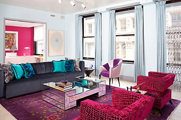 jewel-toned apartment