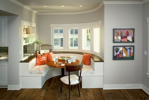 kitchen built in booth family friendly dining area 22 Stunning Breakfast Nook Furniture Ideas