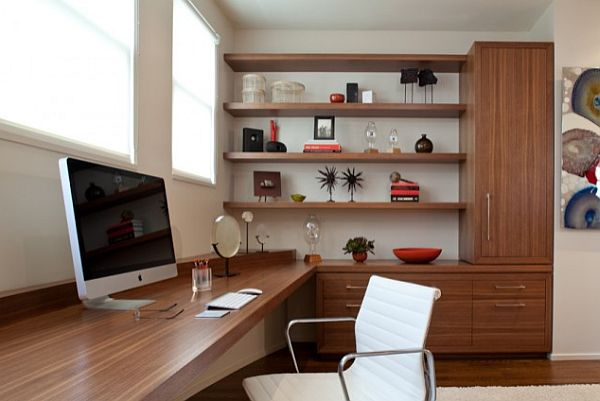 Large desk with shelves and contemporary furniture for home office decoist - Stylish desks to enhance your office space ...