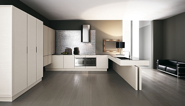 luxury minimalist kitchen design - white theme