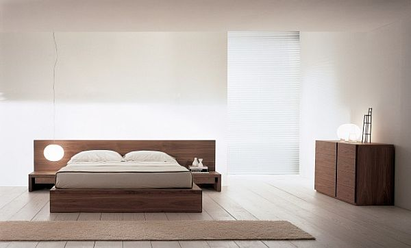 minimalist-Bed-in-solid-wood-with-attached-night-tables