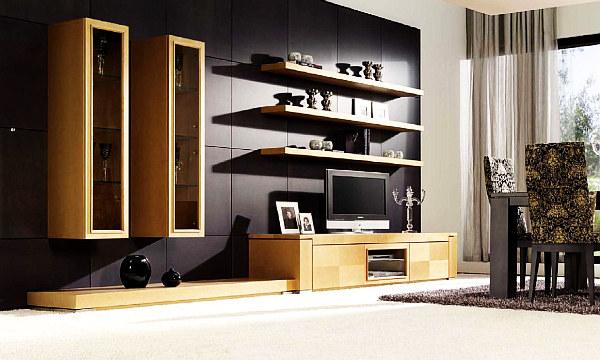 modern art deco living room design idea