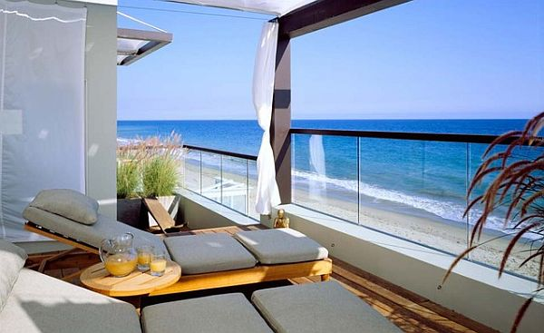 modern balcony inspirational design with sea views