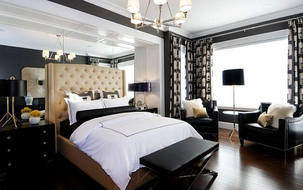 modern black decorated bedroom Black is the New White: Sophisticating Your Room Without Spooking