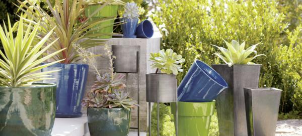 modern garden pots
